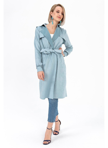 Tiffany&Tomato Trenchcoat Apoletli Mavi